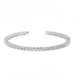 Earth Star Diamonds TB0138 Claw Set Tennis Bracelet in White Gold