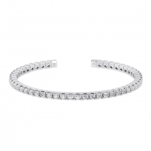 Earth Star Diamonds TB0139 Pave Set Tennis Bracelet in White Gold