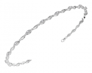 Earth Star Diamonds TB0140 Pave Set Tennis Bracelet in White Gold