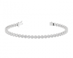 Earth Star Diamonds TB0142 Bezel Set Tennis Bracelet in White Gold
