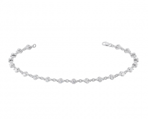 Earth Star Diamonds TB0144 Bezel Set Tennis Bracelet in White Gold