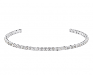 Earth Star Diamonds TB0145 Bezel Set Tennis Bracelet in White Gold