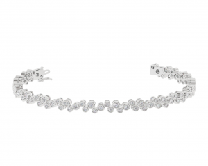 Earth Star Diamonds TB0146 Round Brilliant Cut Diamonds Tennis Bracelet in White Gold