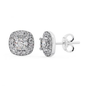 Earth Star Diamonds FE0973 Claw Set Round Diamonds Stud Earring in White Gold