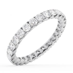 Earth Star Diamonds FR013074 Claw Set Round Diamonds Full Eternity Ring in White Gold