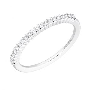 Earth Star Diamonds FR05431240 Round Brilliant Cut Diamond Half Eternity Wedding Ring in White Gold