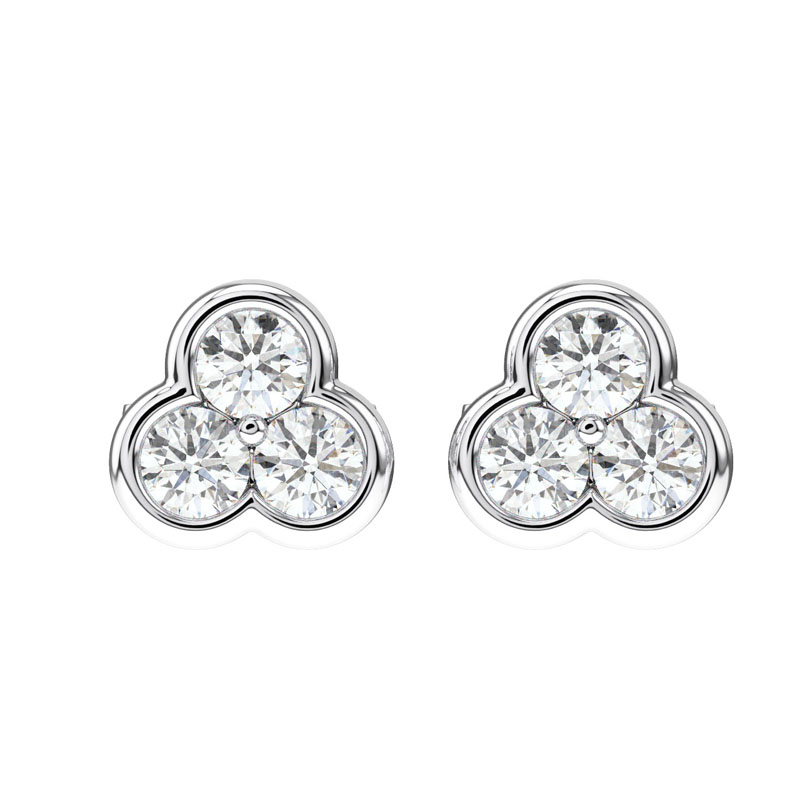 4debd604a56 Details about 0.40 Carat Round Brilliant Cut Diamonds Studs Earring in  950Platinum