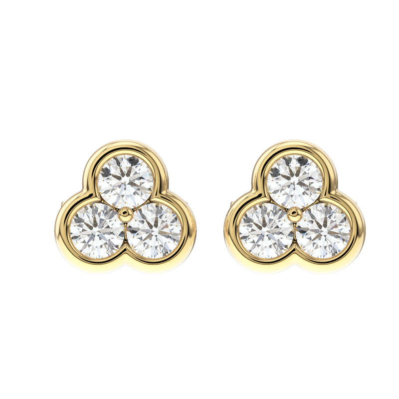 187acaa38 Details about 0.40 Carat Round Brilliant Cut Diamonds Studs Earring in 9K  Gold