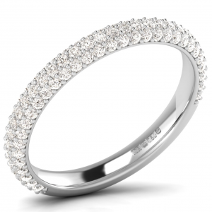 A33081-3 Pave Set Diamonds Half Eternity Ring-02
