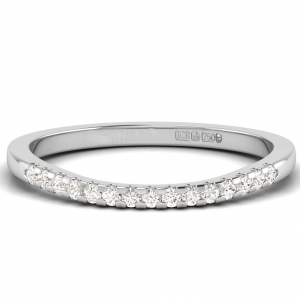 D36015 Round Brilliant Cut Diamonds Half Eternity Wedding Ring-01