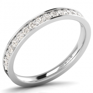 F2.5R1032 Pave Round Diamonds Set Half Eternity Ring-01