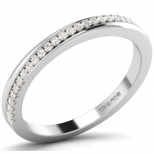 F2.5R1057 Pave Set Round Diamonds Half Eternity Ring-01