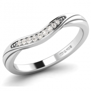 F2R1070 Pave Set Round Brilliant Cut DiamondsHalf Eternity Ring-01
