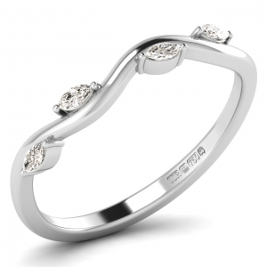 F3.0R1056 Claw Set Marquise Diamonds Half Eternity Ring-01