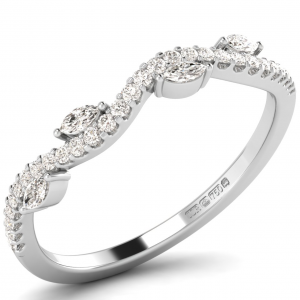F3R1059 Claw Set Round Diamons Half Eternity Ring-01