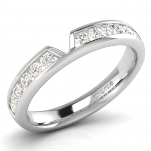 F4R2019 Channel Set Round Diamonds Half Eternity Ring-01