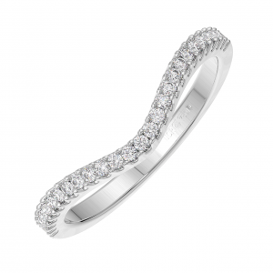 FR0040 Round Brilliant Cut Diamonds Half Eternity Wedding Ring-03