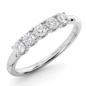 FR01147-HT-Claw Set Round Diamonds Half Eternity Ring-01