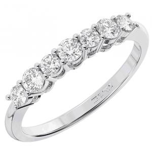 Earth Star Diamonds Claw Set Round Diamonds Half Eternity Ring in Yellow Gold
