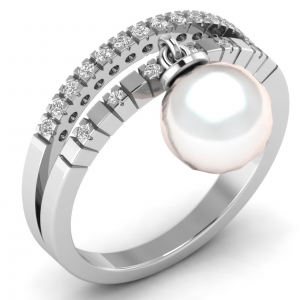 Earth Star Diamonds FR0661 Fishtail Set Round Diamonds Half Eternity Ring in White Gold