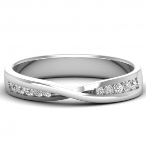 FR0683 Channel Set Round Diamonds Half Eternity Ring-1