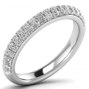 Earth Star Diamonds Pave Set Round Brilliant Cut Diamond Half Eternity Ring in White GoldEarth Star Diamonds Pave Set Round Brilliant Cut Diamond Half Eternity Ring in White Gold