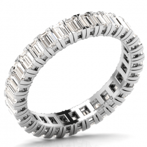 Earth Star Diamonds Baguette Cut Diamonds Full Eternity Wedding Ring in White Gold