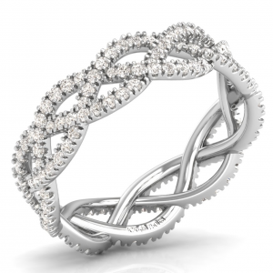 Earth Star Diamonds Round Brilliant Cut Diamonds Full Eternity Wedding Ring in White Gold