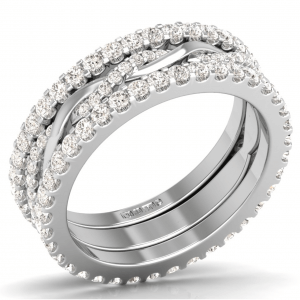 Earth Star Diamonds F6.0R1051 Round Brilliant Cut Diamonds Full Eternity Ring in White Gold