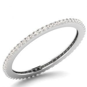 Earth Star Diamonds FR01008 1.50MM Pave Set Round Diamonds Full Eternity Ring IN White Gold