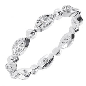 Earth Star Diamonds Round Brilliant Cut Diamonds Full Eternity Wedding Ring in White Gold