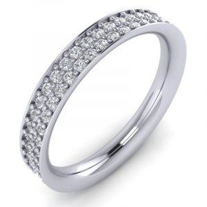 Earth Star Diamonds Round Brilliant Cut Diamonds Full Eternity Ring in White Gold