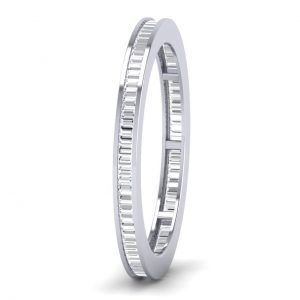 Earth Star Diamonds Baguette Cut Diamonds Full Eternity Ring in White Gold