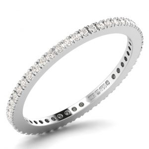 F1R884 Round Brilliant Cut Diamonds Full Eternity Wedding Ring-1