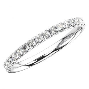 Earth Star Diamonds ERH1501250 Round Brilliant Cut Diamonds Half Eternity Wedding Ring in White Gold