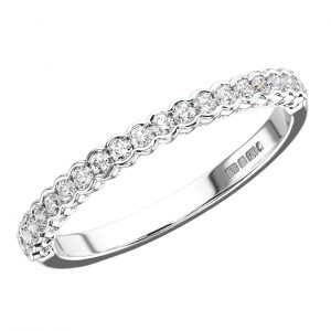 rub over set half eternity ring