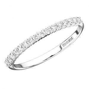 claw set round diamonds half eternity ring