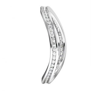 FR06102 Channel Set Brilliant Round Cut Diamonds Full Eternity Ring -1