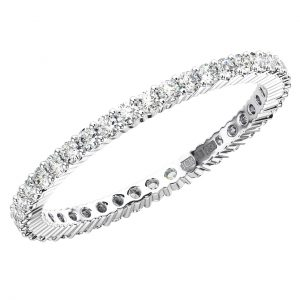 Claw Set Round Brilliant Cut Diamonds Full Eternity Ring