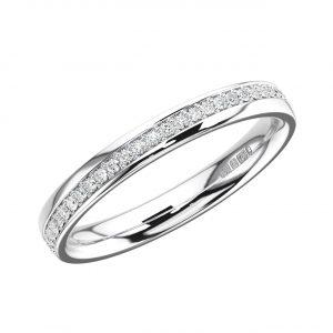 Pave Set Round Brilliant Cut Diamonds Full Eternity Ring