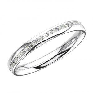 ERF0752-2.5-White Gold Channel Set Baguette Diamonds Full Eternity Ring