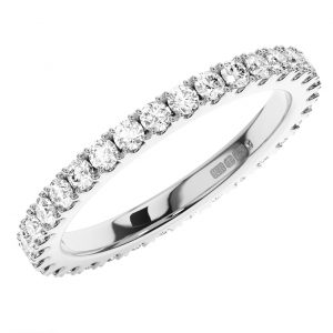 Fishtail Set Round Brilliant Cut Diamonds Full Eternity Ring