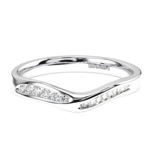 Round & Baguette Cut Diamonds Half Eternity Ring