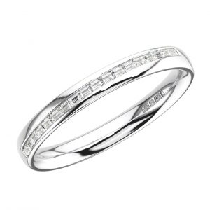 Channel Set Baguette Diamonds Half Eternity Ring