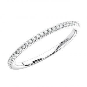 ERH1077 -15-40-WHITE GOLD PAVE SET ROUND BRILLIANT CUT HALF ETERNITY RING (5)