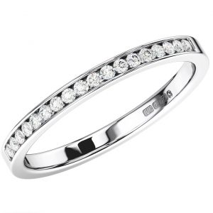 Channel Set Round Diamonds Half Eternity Ring