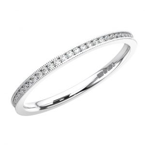 Channel Set Round Brilliant Cut Diamond White Gold Full Eternity Ring 1 (3)