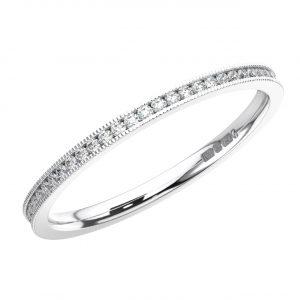 Channel Set Round Brilliant Cut Diamond White Gold Full Eternity Ring 1 (3)
