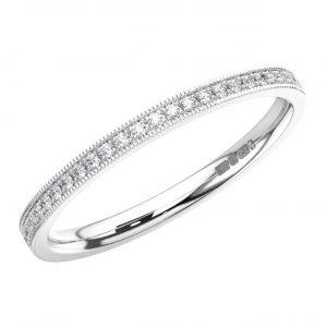 MICRO PRONG SET ROUND BRILLIANT CUT DIAMONDS WHITE GOLD FULL ETERNITY RING