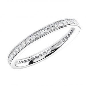PAVE SET ROUND BRILLIANT CUT DIAMONDS WHITE GOLD FULL ETERNITY RING (1)